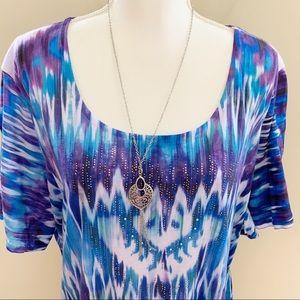 Avenue Rhinestone Embellished Shirt Size 30/32